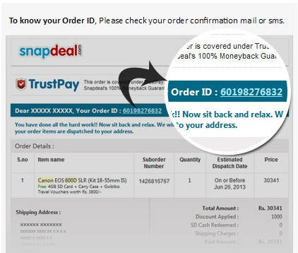 snapdeal order tracking